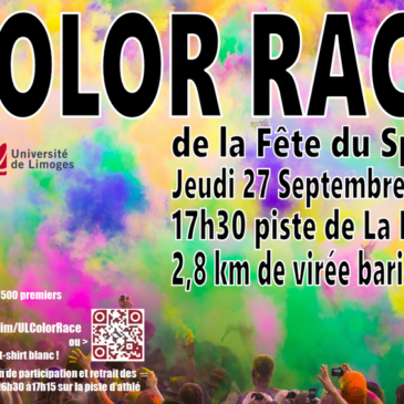 Color Race de la Fête du Sport Universitaire de Limoges