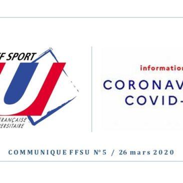 ANNULATION de toutes les compétitions nationales universitaires pour la saison 2019-2020
