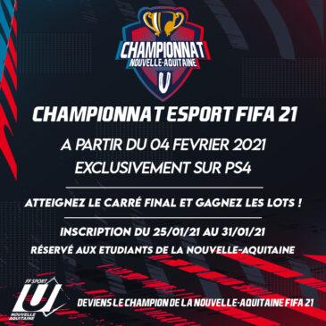 Championnat régional ESPORT FIFA 21